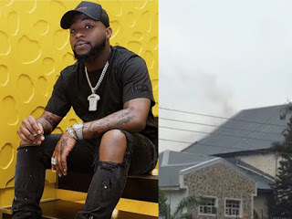 OH NO! FIRE BREAKS OUT AT DAVIDO'S FATHER'S HOUSE… PEOPLE ARE BLAMING CHIOMA FOR LEAVING THE GAS OPEN