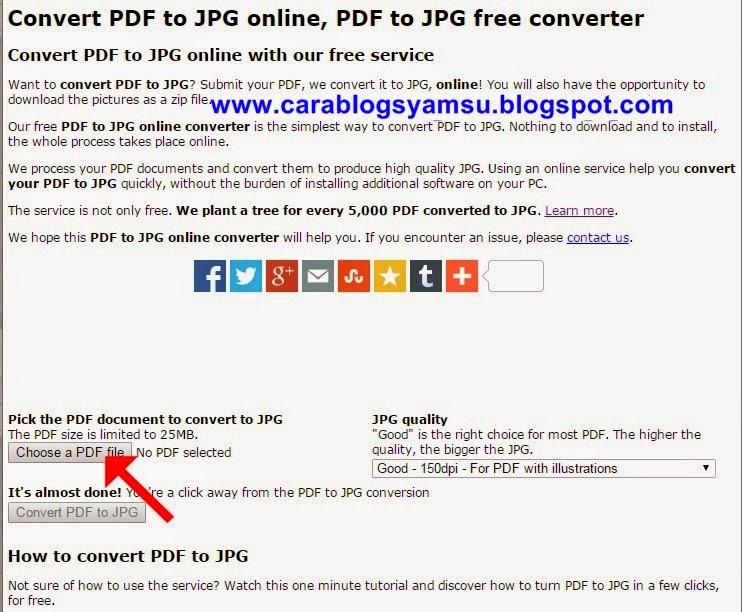 Cara Mengubah File PDF Menjadi JPG