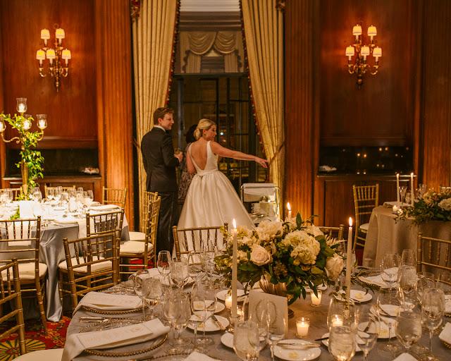 classic wedding tablescape