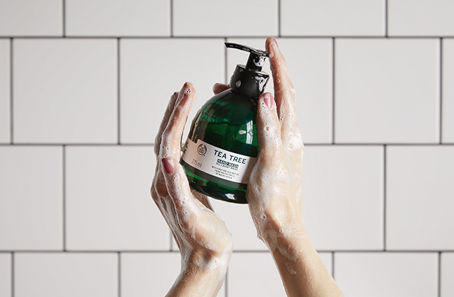 Cleaning and Pampering Your Hands with The Body Shop