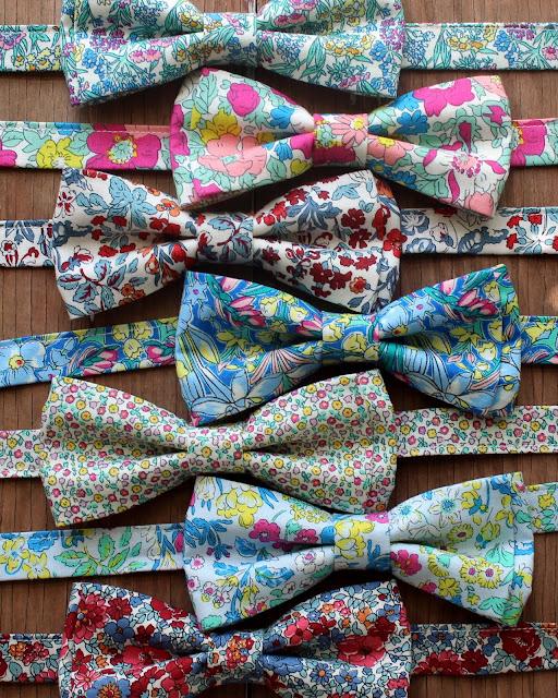 Liberty high summer and winter garden cotton bow ties