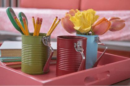 Memanfaatkan Kaleng Bekas untuk Hiasan Dekorasi Rumah