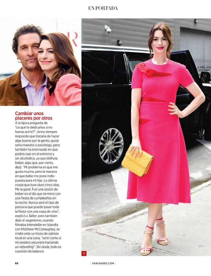 Anne Hathaway Featured in Vanidades Magazine - Mexico November 2020