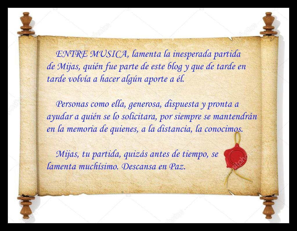 ENTRE MUSICA: HASTA SIEMPRE MIJAS (Q E P D )