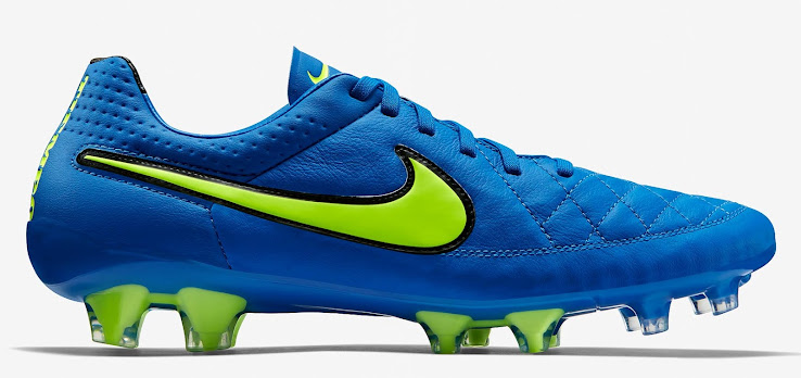 outlet store e6a48 06edf Blue / Volt Nike Tiempo Legend V 2015 Boot Released - Footy ...