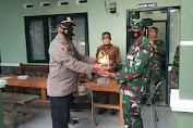 HUT TNI ke 76, Kapolsek Tanara Beri Ucapan Selamat ke Danramil Tirtayasa
