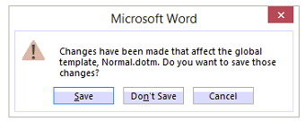 word normal dotm error
