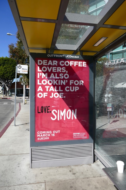 Dear Coffee Lovers Love Simon poster ad