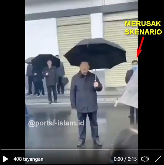 Ngakak..!! Skenario Pencitraan Xi Jinping Rusak Gara-gara Pria Bermasker Terekam Kamera