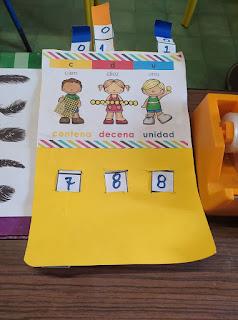 manualidad para niños - contador de tres cifras
