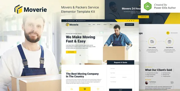 Best Movers & Packers Service Elementor Template Kit