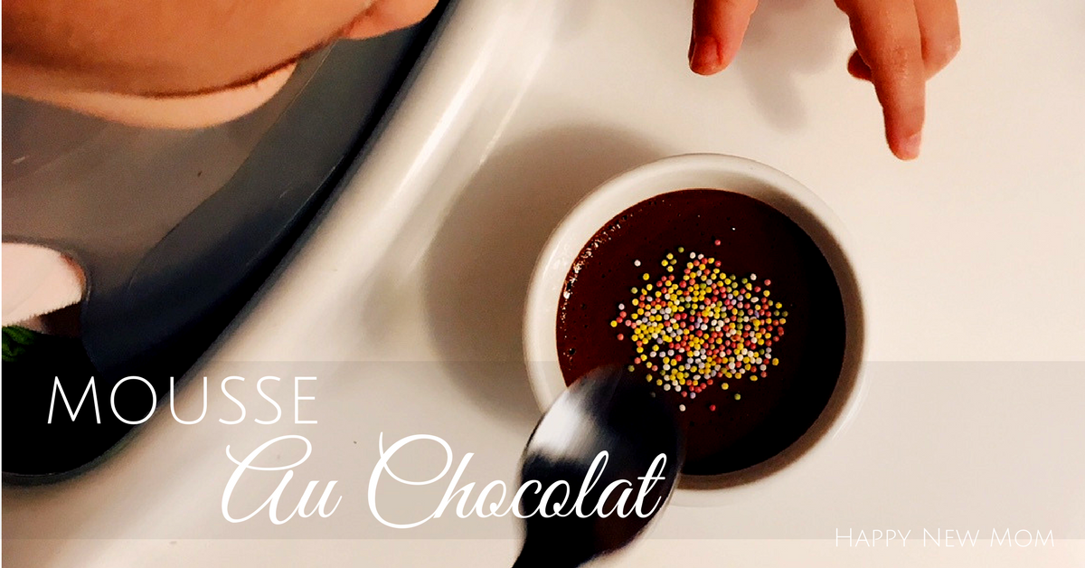 Happy New Mom Mousse Au Chocolat Rapide Thermomix