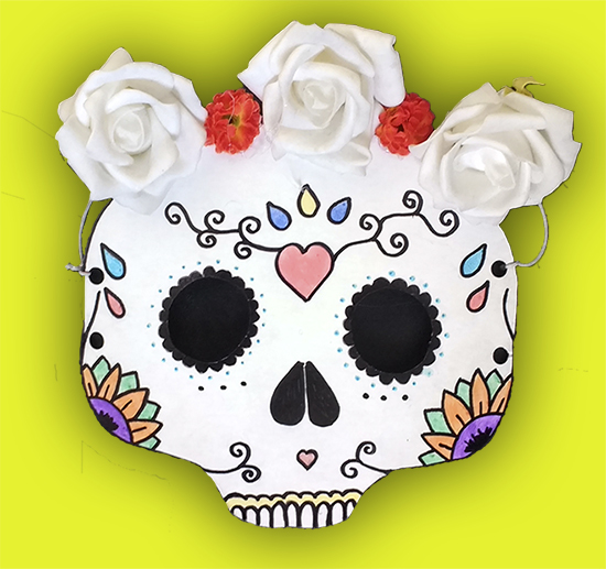 máscara de carnaval, caveira mexicana, máscara, diy, faça você mesmo, do it yourself, tutorial, a casa eh sua, carnaval, fazer máscara