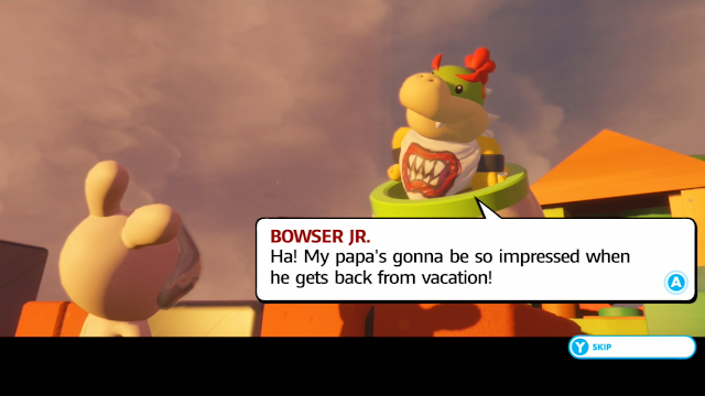 Mario + Rabbids Kingdom Battle Bowser Jr. back from vacation