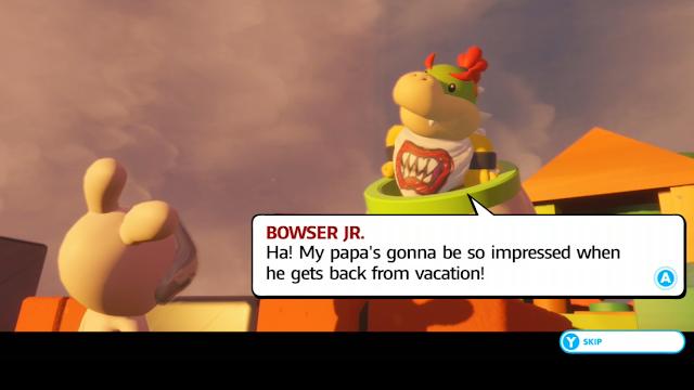 Mario + Rabbids Kingdom Battle Bowser Jr. back from vacation