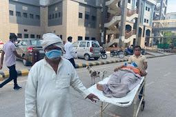 हॉस्पिटल में भर्ती होने के किये घण्टो तड़पते रहे मरीज, सी० टी० स्कैन कराने मरीजो को बाहर भेज रहे डॉक्टर