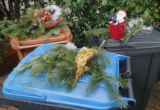 Image of festive bins by North Mymms News released via Creative Commons BY-NC-SA 4.0