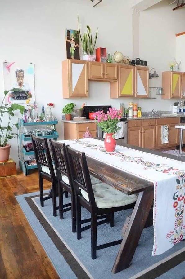 cocina antigua pintada