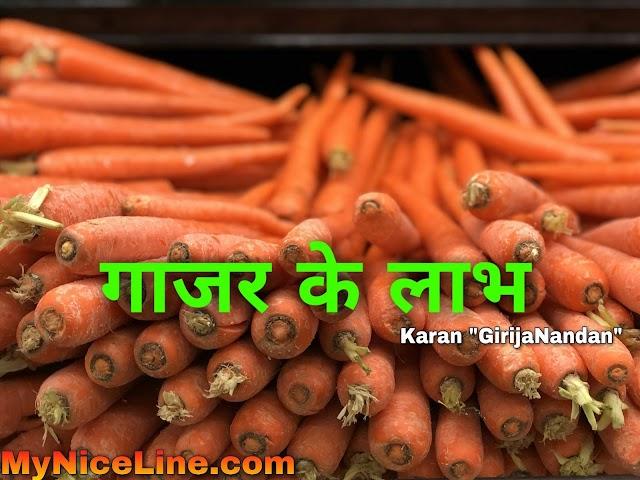 गाजर खाने के 5 बेहतरीन फायदे | 5 Health Benefits Of Carrots In Hindi