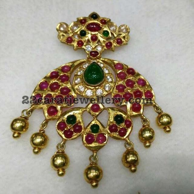 Heavy Kundan Silver Pendant Sets
