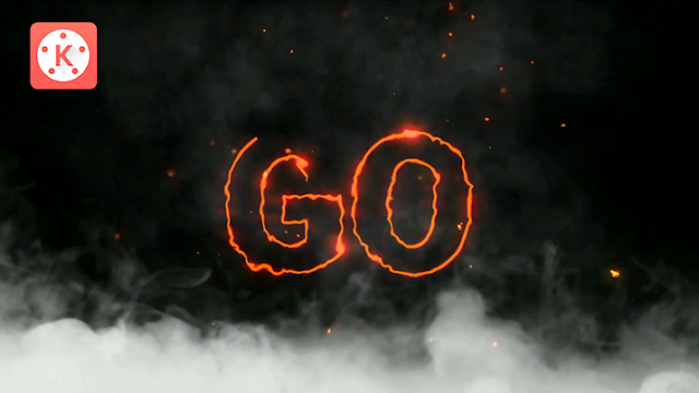 How to Make a Text Fire Smoke Intro in Kinemaster