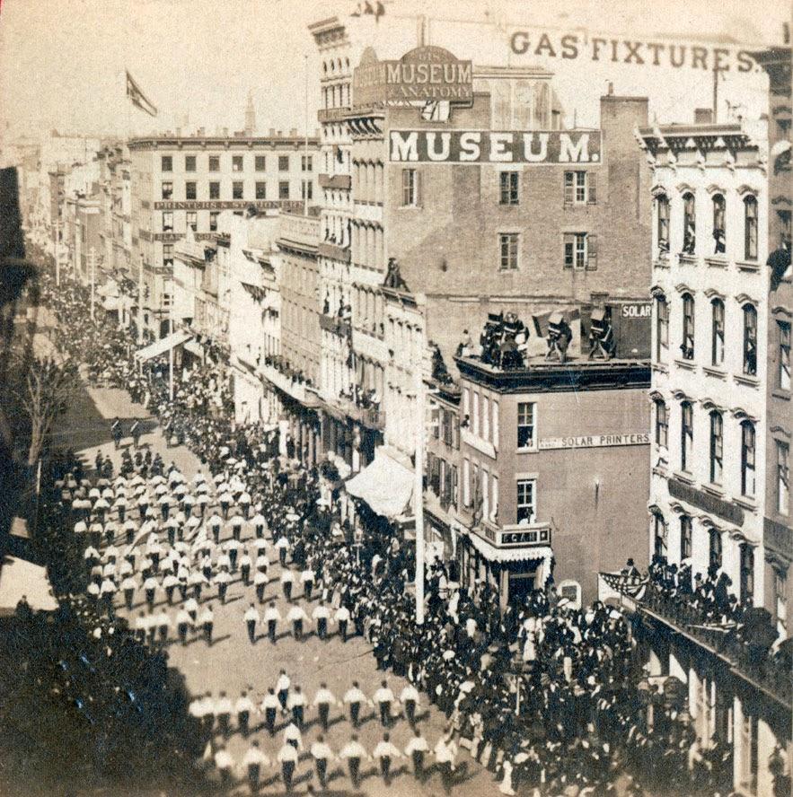 new york history geschichte new york city grand procession 1871. Black Bedroom Furniture Sets. Home Design Ideas