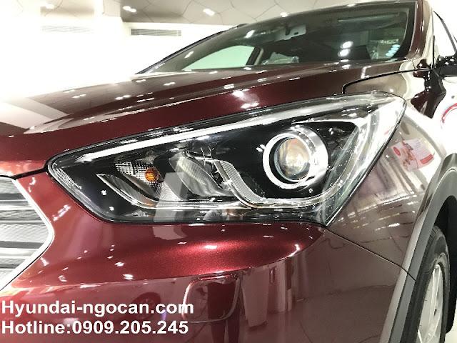 Santafe 2017 màu đỏ mận Hyundai Santafe 2017 màu đỏ mận | Đỏ Bordeaux mới AHQP2449