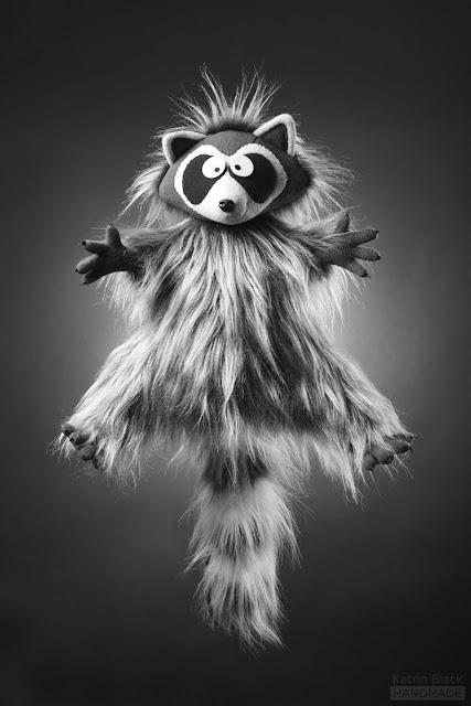 Енот - авторская мягкая игрушка из меха ручной работы от Katrin Black