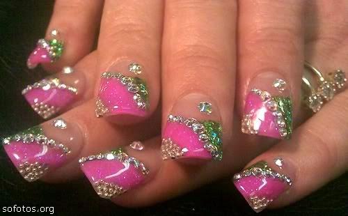 uñas decoradas con gel