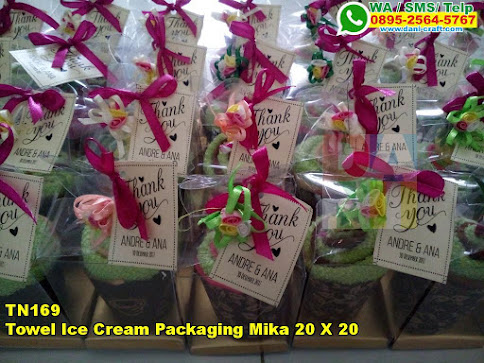 Harga Towel Ice Cream Packaging Mika 20 X 20
