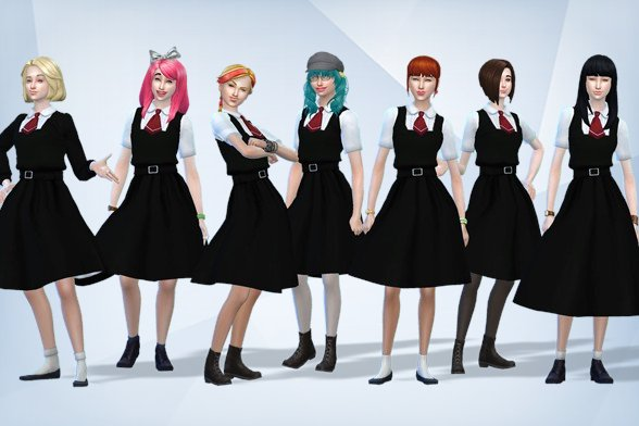 Zombieland Saga Anime - Reimagined - Sims 4 Tray and CCs Download