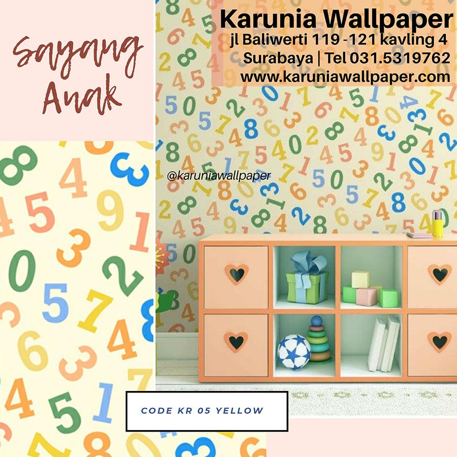wallpaper dinding kamar anak lucu