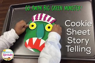 Go Away Big Green Monster Story-telling pieces