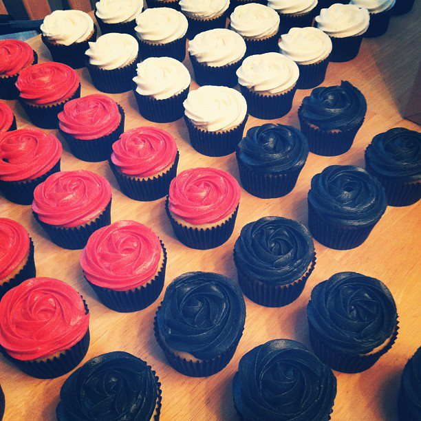Cakes By Becky Red Black Ivory Cupcake Wedding