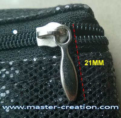 silver zip puller