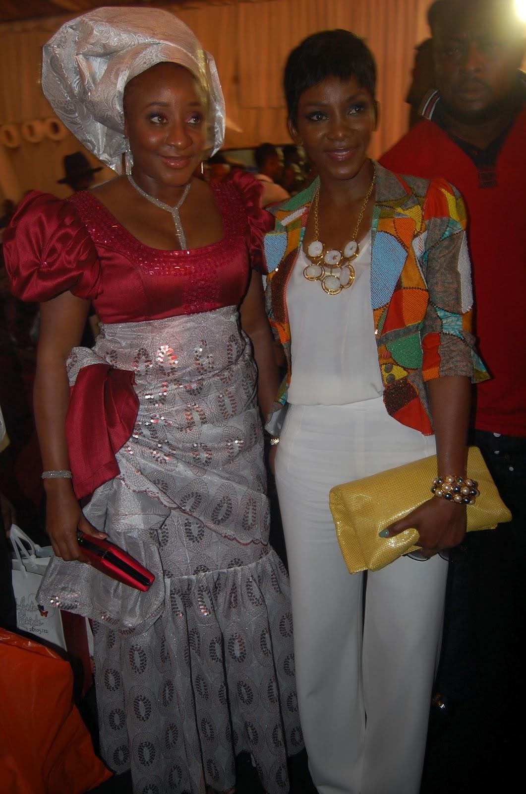 Ini Edo In Aso Ebi With Genevieve Nnaji At The Wedding Of Funke Akindele To Kenny Almaroof Today Lagos