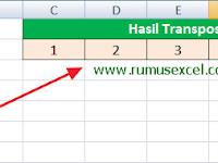 Cara Menggunakan Fungsi Transpose di Excel