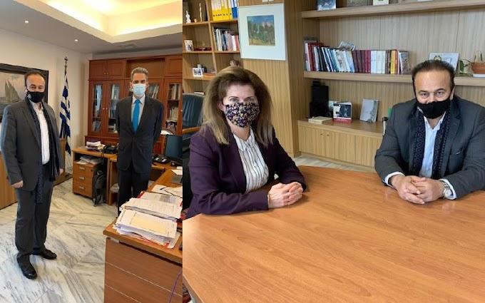 Συνάντηση Γιάννη Αντωνιάδη με υφυπουργό Παιδείας και Θρησκευμάτων κ. Άγγελο Συρίγο και με ΓΓ κα Αναστασία Γκίκα