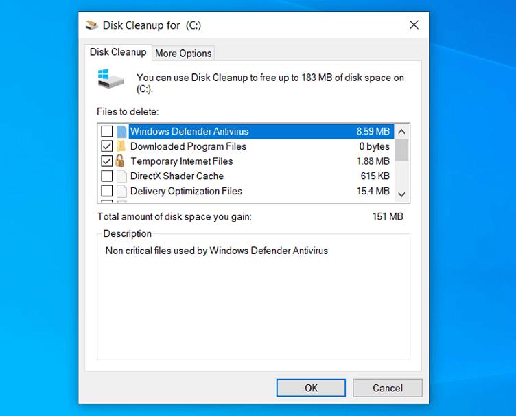 برنامج تنظيف الكمبيوتر الافتراضي