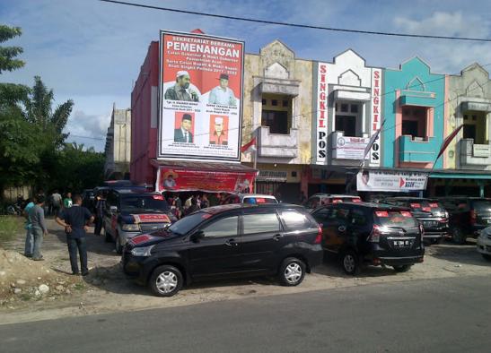 """Ratusan Massa Aceh Singkil """"Merahkan"""" Deklarasi Muzakir Manaf – TA Khalid"""