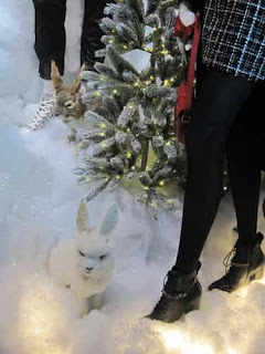 Bunnies In The Saks Queen Street Window.