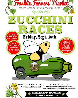Zucchini races return to the Farmers Market - Sep 10, 2021