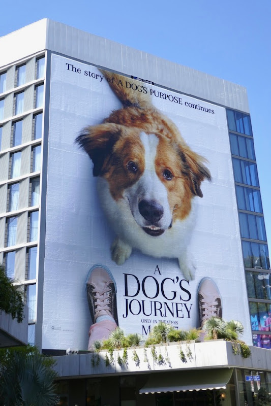 A Dogs Journey giant billboard