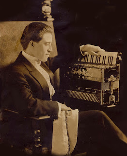 Guido Deiro with the instrument that made  him a highly-paid vaudeville star