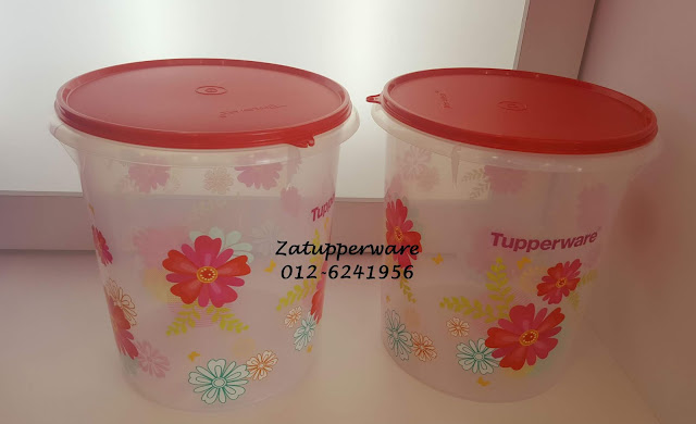 Tupperware Fortune Bloom Giant Canister (2) 8.6L