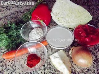Ciorba de varza cu smantana - toate ingredientele necesare pentru a prepara reteta