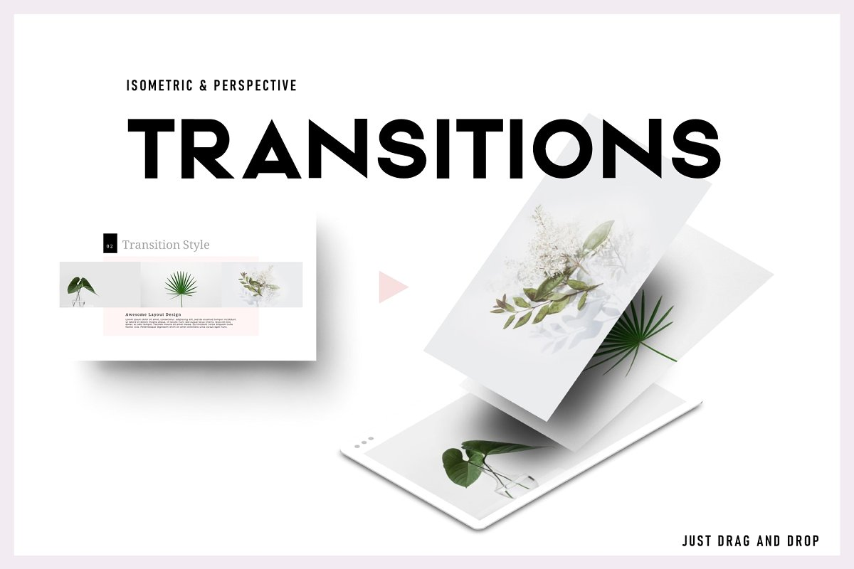 Transitions Powerpoint Template Infographicon
