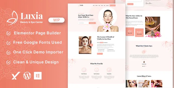 Best Beauty & Spa Center WordPress Theme