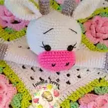 Manta de Apego Vaquita a Crochet
