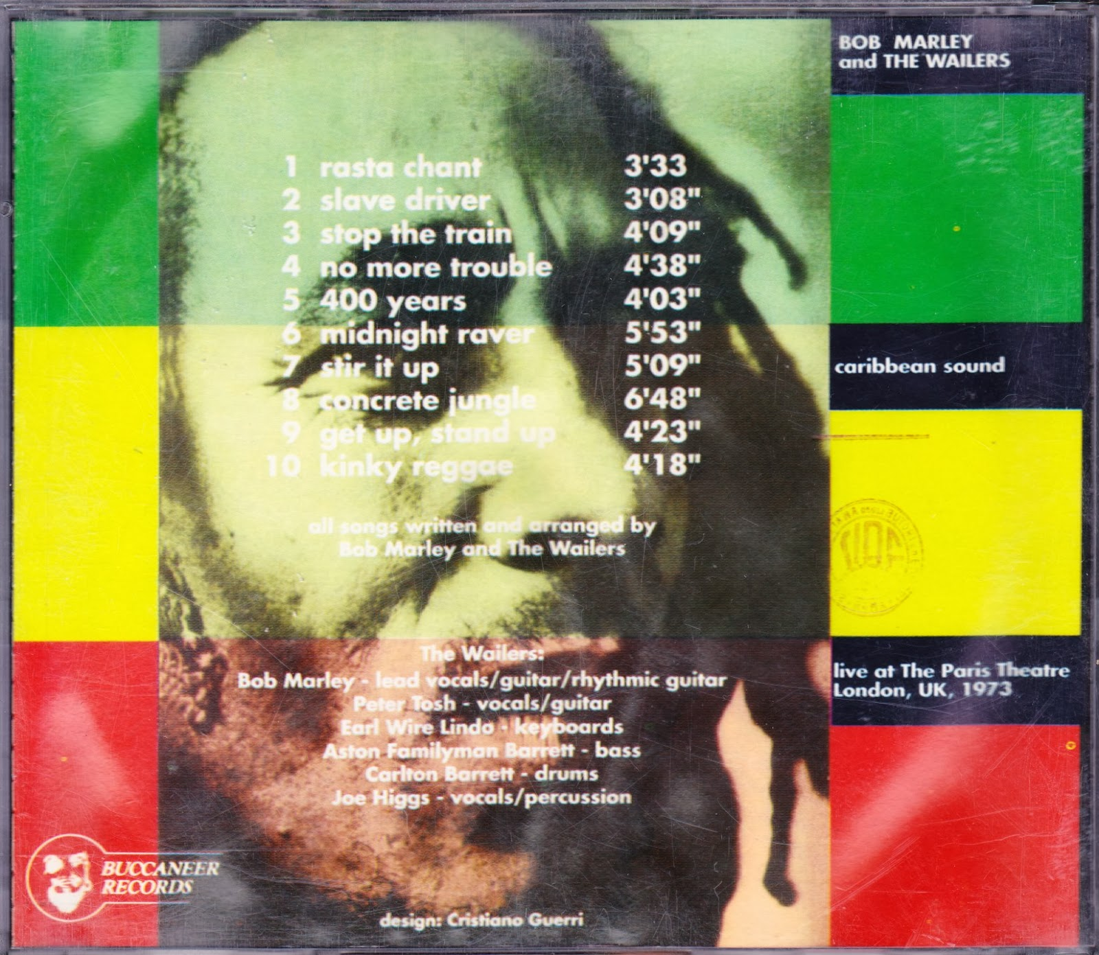 Caribbean Sound Caribbean Sound: Fight This Sickness Find A Cure: Bob Marley